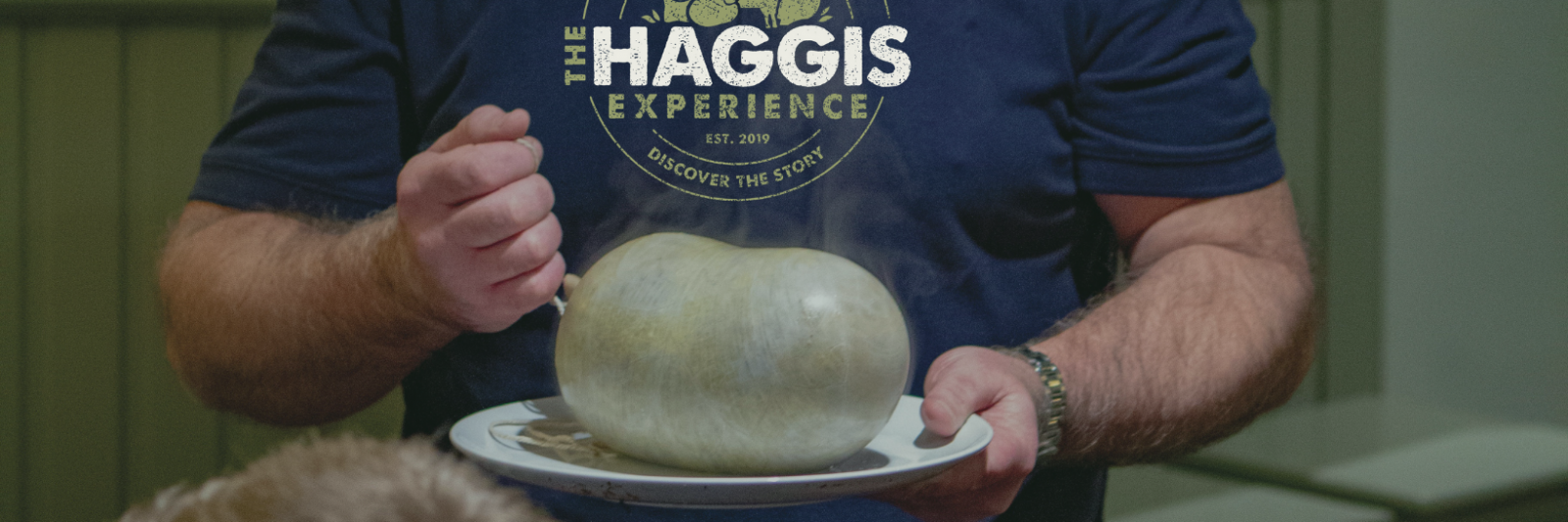 Traditional Scottish haggis on a plate